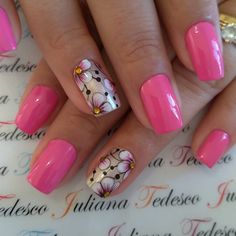 Cute Spring Nails, Pretty Nails, All The Colors, You Nailed It, Nail Art Designs, Beauty, Instagram Nails, Nailart, Hair