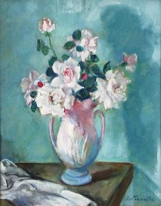 """""""Pink Roses,"""" Martha Walter, oil on board, 20 x private collection. Rose Paintings, Floral Paintings, Oil Painting Flowers, American Impressionism, Impressionist, Painters, Pink Roses, Flower Art, Beautiful Flowers"""