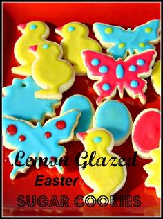 Lemon Glazed Easter Sugar Cookies http://bibisculinaryjourney.com