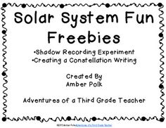 FREEBIE - Create your own constellations and writing activity FREE in the sample! Science Curriculum, Science Classroom, Science Lessons, Teaching Science, 2nd Grade Activities, Science Activities, Writing Activities, Earth's Rotation, Solar System Activities
