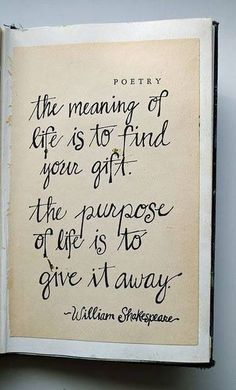 Find your gift. Give it away, #Beyogabe   beyogabe