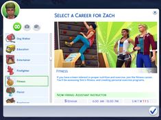 "midnitetech: "" Fitness Career I actually totally forgot to upload this… oops! The athlete career doesn't cover this, so here's a career for your personal trainer sims! Fitness If you have a keen..."