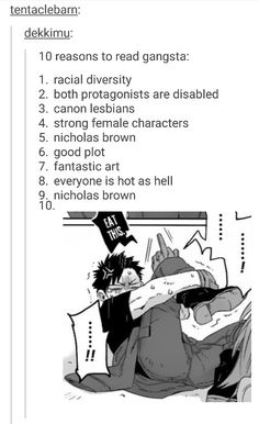 characters with disabilities that only count as an ability for them!!!! also delico and marco!!! racial diversity yes yes yES!!!1!!