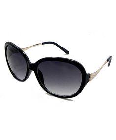 66054051ab Big Buddha Black Oval Sunglasses
