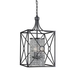 Gisela Crystal Beaded 3-light Iron Chandelier - Free Shipping Today - Overstock.com - 16276263 - Mobile