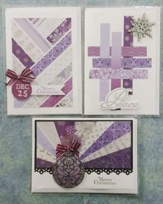 Christmas Cards - made using scraps from other craft projects