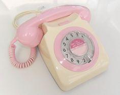 pink & cream vintage telephone