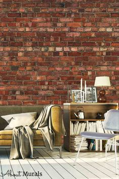 Old Red Brick Wallpaper, as seen on Cityline, has a realistic, textured look. It adds a lofty feel to a living room, bedroom or office. The removable wallpaper is easy to hang and eco-friendly. Faux Brick Wallpaper, I Wallpaper, Old Brick Wall, Old Bricks, Brick Design, Prepasted Wallpaper, Outdoor Furniture Sets, Outdoor Decor, Exposed Brick