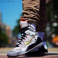 "Kobe 9 Elite ""Gold"" This person who is just wearing them outside casually is crazy!"