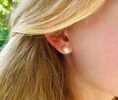 Buy Now Swarovski Pearl Stud Earrings White Ivory Cream. Bridesmaid Earrings, Wedding Earrings, Wedding Jewelry, Real Pearl Earrings, Real Pearls, Birthday Gifts For Her, Pearl Studs, Swarovski Pearls, Crystal Beads