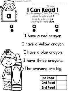 FREE Samples of my sight word reader and comprehension pre- primer packet. 4 pages of sight word reader and 4 comprehension pages.These reading comprehension packets include the following activities:-Read 3 times for fluency-Short answer questions-Fill in the blank questions-Multiple choices-Match the story with the pictures, and-Sequencing.These reading passages are great for both beginning readers, struggling readers, and ESL students in Kindergarten,1st grade, and 2nd grade.These reading…