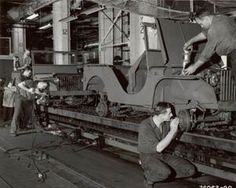 1942 jeep assembly line at Ford.  Photo:  Courtesy Ford