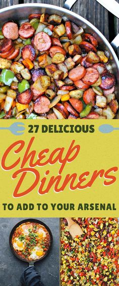 Cheap Healthy Dinner Recipes For 6 Sheet Pan - 27 easy meals that won& break the bank Dinner On A Budget, Dinner Menu, Frugal Meals, Budget Dinners, Cheap Heathy Meals, Simple Cheap Meals, Easy Meals To Cook, Cheap Veggie Meals, Cheap Large Family Meals