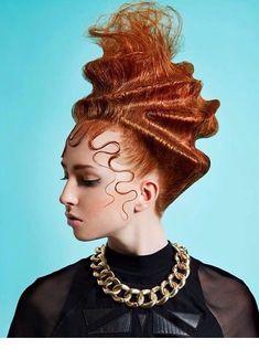 - The HairCut Web- Artistic hairstyles! – The HairCut Web Artistic hairstyles! – The HairCut Web - Creative Hairstyles, Unique Hairstyles, Up Hairstyles, High Fashion Hair, Fashion Boots, Avant Garde Hair, Editorial Hair, Beauty Editorial, Corte Y Color