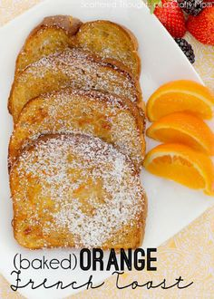 Baked Orange French Toast Recipe - Baked Orange French Toast by scatteredthoughts of a crafty: Crispy and sweet with just a hint of or - Breakfast And Brunch, Breakfast Dishes, Breakfast Recipes, Breakfast Casserole, Orange French Toast Recipe, French Toast Bake, Oven Baked French Toast, Love Food, The Best