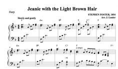 $1.50 Harp Music: Jeanie with the Light Brown Hair for Harp