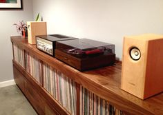 Did I already pin this?  Custom Record/Stereo Cabinet by Trey Jones, via Behance