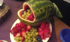 Fish fruit bowl