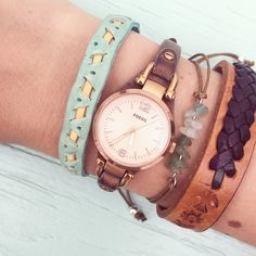 Summer festival arms #bracelet #fossil #watch #fossilstyle