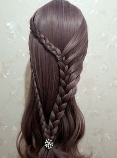 Style Your Human Hair Wig. Baby Girl Hairstyles, Braided Hairstyles, Grey Hair Extensions, Special Occasion Hairstyles, Toddler Hair, Beautiful Long Hair, Hair Today, Hair Designs, Bridal Hair
