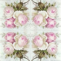 for Party 4x Paper Napkins Decoupage Jardin Botanique light rose