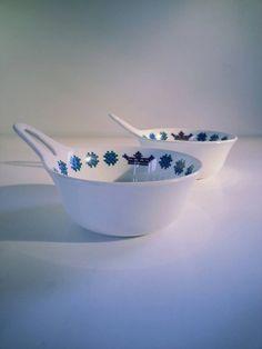 Vintage Figgjo Flint Turi Design Noway Menu Soup Bowl.. Norway, Decorative Bowls, Scandinavian, Menu, Soup, Pottery, Vintage, Design, Home Decor