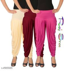 Ethnic Bottomwear - Patiala Pants  Cotton Viscose Attractive Women's Patiala Pants Combo Fabric: Cotton Viscose Size: XL - 34 in  XXL - 36 in  Length: Up To 40 in Type: Stitched Description: It Has 3 Pieces Of Women's Patiala Pants Pattern: Solid Country of Origin: India Sizes Available: XL, XXL, XXXL, 4XL, 5XL   Catalog Rating: ★4 (285)  Catalog Name: Stylish Cotton Viscose Attractive Women's Patiala Pants Combo Vol 12 With CatalogID_727579 C74-SC1018 Code: 284-4965083-3321
