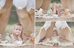 love these stylized shoots...and kiddie-bohemian fabric tents in general :)