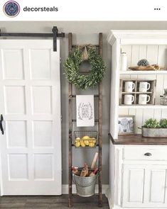 Home Decoration - 37 Great Farmhouse Decoration Ideas To Bring Creative Look - Wallpaper Pinme Country Farmhouse Decor, Farmhouse Kitchen Decor, Farmhouse Style, Modern Farmhouse, Vintage Farmhouse, Country Kitchen, Farmhouse Ideas, Rustic Style, Farmhouse China Cabinet