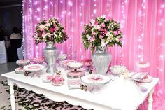 pink and white decoration - New Site Paris Party, White Decor, Holidays And Events, Quinceanera, Birthday Party Themes, Party Time, Wedding Planner, Our Wedding, Birthdays