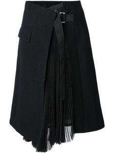 Купить Sacai юбка с запахом.