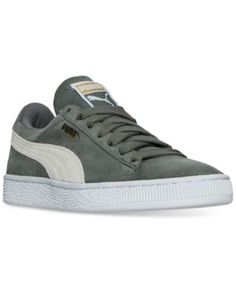 Puma Womens Suede Classic Casual Sneakers from Finish Line - Green 7 Suede  Trainers 09cc390fb