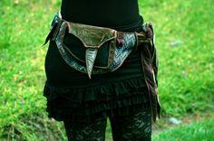 Textures of the Forest - Festival Pocket Belt - Utility belt - Renaissance Faire Inspired