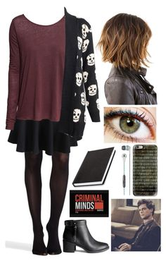 """""""Criminal Minds OC - Lucy Stone"""" by maddiediangelo ❤ liked on Polyvore featuring SPANX, H&M, Skullcandy and Casetify"""