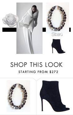 """""""Agate."""" by sibaru ❤ liked on Polyvore featuring Gianvito Rossi, Daum, women's clothing, women's fashion, women, female, woman, misses and juniors"""