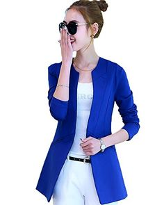 My Wonderful World Women's One Button Boyfriend Long Blazer X-Large Royal Blue My Wonderful World Blazer Coat Jacket http://www.amazon.com/dp/B016UE53D8/ref=cm_sw_r_pi_dp_WWljwb0GXQ6DN