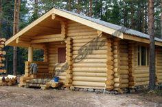 Фото деревянных бань из бревна с террасой и без, одноэтажные и двухэтажные срубы бань