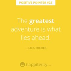 Look ahead, your future is BRIGHT!   www.happitivity.com #positivepointer #quote