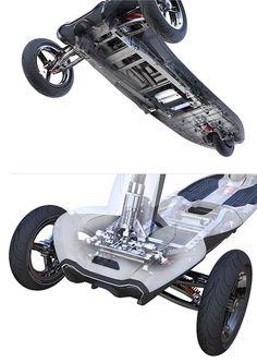세계최초의 폴딩형 역삼륜 전동킥보드 - TRANSBOARD | 크라우드펀딩 와디즈
