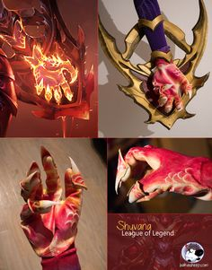 Cosplay made by Bakasheep Facebook : https://www.facebook.com/bakasheep.sushi.camo/?fref=ts   I finally started making Shyvana's hands. I was worried for many days about these gloves but I found motivation!