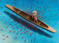 Pescador en Cartagena