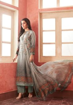 Buy Esta Allura Digital Printed Pashmina with Handwork Salwar Suit 07 Suit Fashion, Womens Fashion, Salwar Suits, Salwar Kameez, Allura, Cool Things To Buy, Stuff To Buy, Winter Collection, Suits For Women