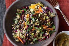 Moroccan Spiced Millet and Lentil Salad