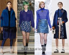 Clothing Colors Fall-Winter 2016-2017 Fashion Trends: shades of blue