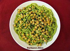 GREEN TAGLIATELLE WITH CHICKPEAS (pasta e ceci)