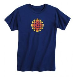 Blue Tee (@ CBC) // The CBC orange gem is one of the most recognizable logos in the country. It was designed by Burton Kramer and introduced in Old Logo, Classy Outfits, Classy Clothes, New Wardrobe, Style Me, Personal Style, Retro, Tees, Mens Tops