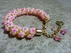 Best Seed Bead Jewelry 2017 More advanced flower over netting project. Russian takes some work but worth It can be a necklace or bracelet simply b. Netted Bracelet, Daisy Bracelet, Seed Bead Bracelets, Seed Bead Jewelry, Beaded Necklace, Jewelry Necklaces, Diy Fashion Accessories, Beaded Jewelry Patterns, Bracelet Tutorial