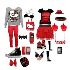 Swag Outfits for Girls | black and red swag - Avenue7 - Express your fashion