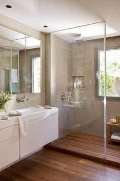 Baño con mampara cristal
