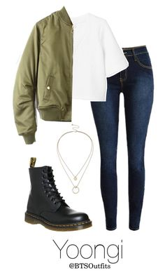 Apr 2020 - A fashion look from March 2016 by btsoutfits featuring Monki, Dr. Martens and Sole Society Korean Fashion Kpop, Kpop Fashion Outfits, Swag Outfits, Korean Outfits, Cute Casual Outfits, Stylish Outfits, Girl Outfits, Teenage Outfits, Outfits For Teens